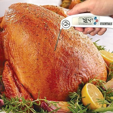 Termómetro de lectura instantánea - mejor carne y cocina termómetro digital w/sonda de interior - Ultra rápida lectura instantánea electrónico termómetro de ...