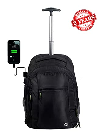 3G Atlantis Series Smart Laptop USB Backpack 20 LTR with Alluminium Ttrolley (Balck)