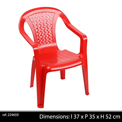 greemotion Sedia poltroncina impilabile bambini in plastica, sedia ...