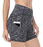 """QUEENIEKE Women 6"""" Inseam Power Flex High Waist 3-Pocket Running Shorts Workout Fitness"""