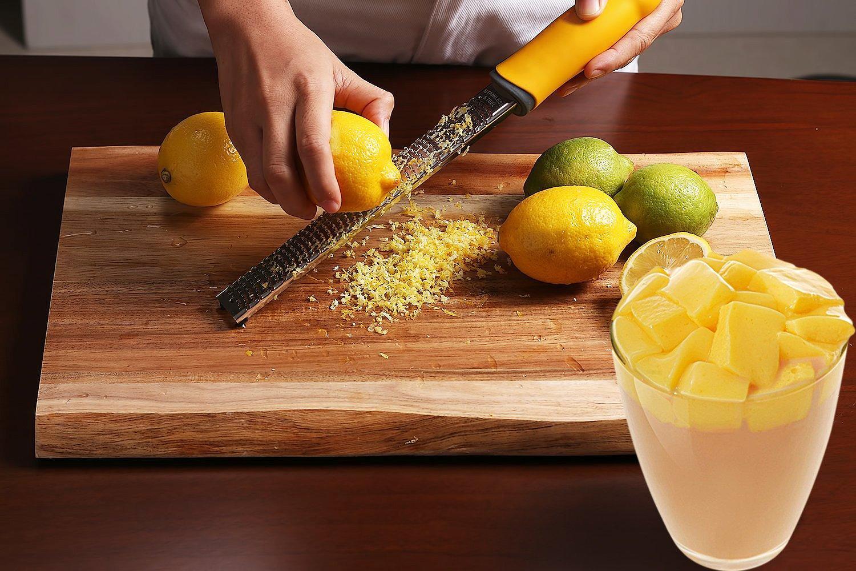 chocolate queso parmesano Citrus Lemon Zester /& Rallador de queso nuez moscada lim/ón hoja de acero inoxidable afilado ajo frutas jengibre verduras