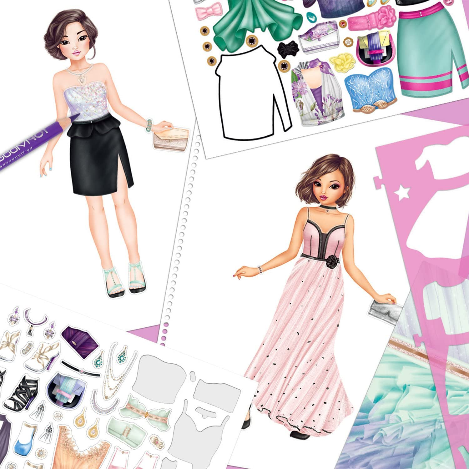 783 NEW Details about  /Top Model Create your Glamour Special Colouring