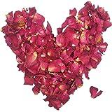 100 Gramos de Pétalos de Rosas Secas Rojo Real Flor de Pétalos de Rosa para Baño de Baño de Pie Confeti de La Boda Accesorios de Artesanía