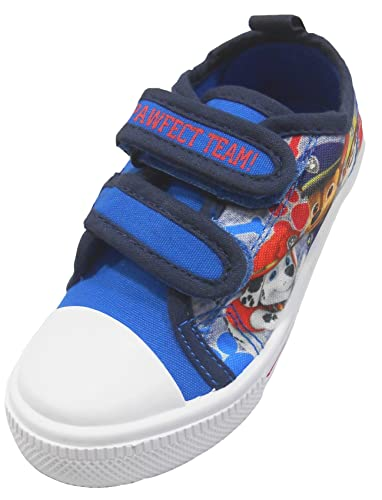 9011449d2ce72 'Paw Patrol' Boys Summer Canvas Pump Trainer Character Childrens Shoes 5-10  UK