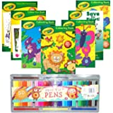 Crayola® Bumper Pack of 7 x Children's Fun Colouring, Activity, Puzzle & Dot to Dot Books & 50PC Felt Tip Colouring Pen Set