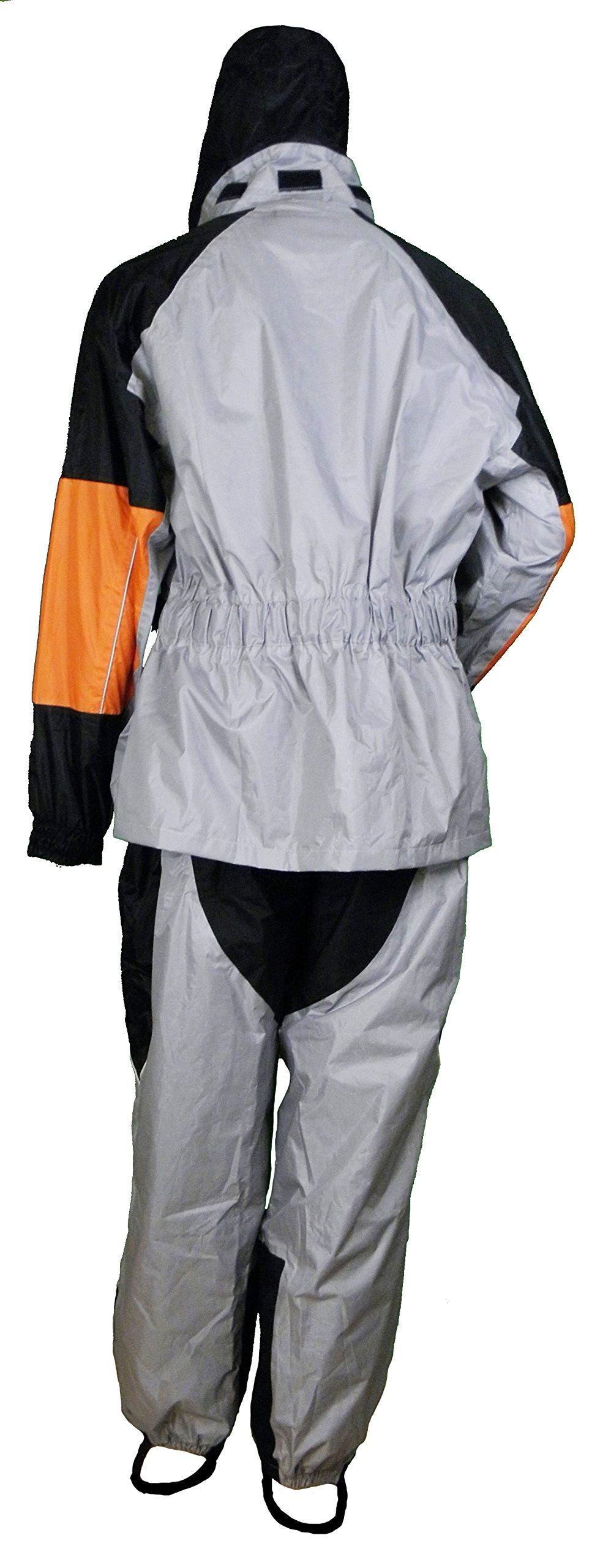 Premium Rainsuit Black/Gray & Orange by Vance Leather (Image #1)