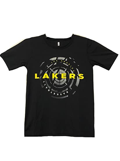 f4d2abbea Outerstuff Los Angeles Lakers Basketball NBA Youth Boys 8-20 Black Yellow  Performance T