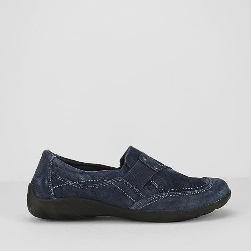Earth Spirit - Mocasines de Piel para mujer azul azul marino, color azul, talla 42: Amazon.es: Zapatos y complementos