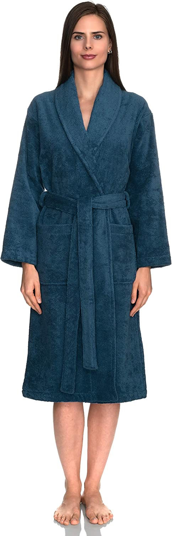 Luxury Unisex 100/% Pure Soft Cotton Hooded//Shawl Collar Bathrobe for Men /& Women