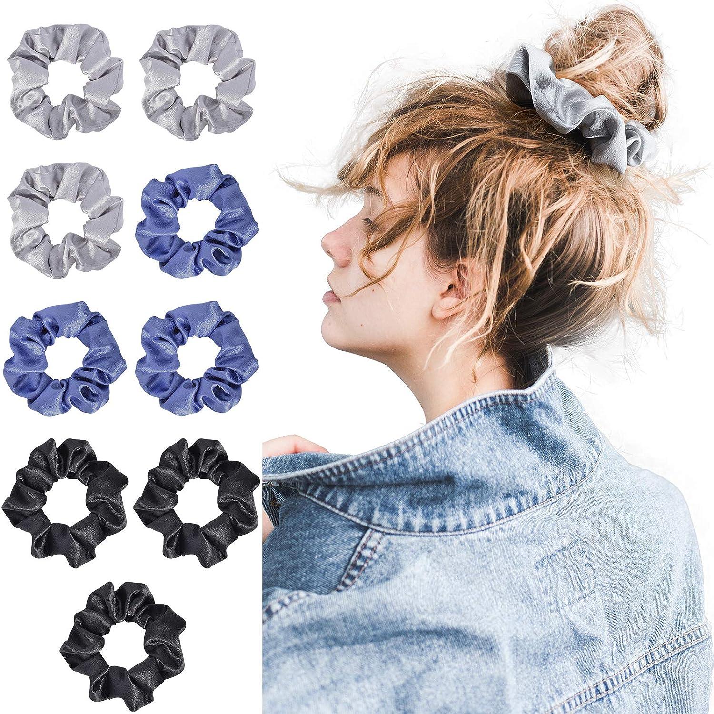Hair Scrunchies Satin Silk Elastic Hair Bands Scrunchy Ponytail Hair Ties Rope