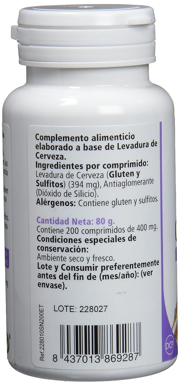 SANON Three Pack Levadura de Cerveza 200 comprimidos de 400 mg: Amazon.es: Salud y cuidado personal