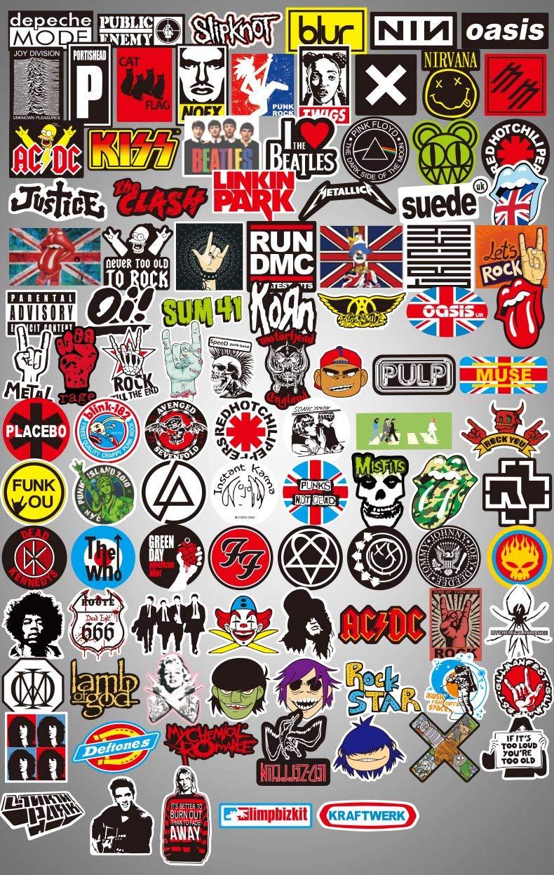 Sanmatic 50 PCS Thema Sticker Pack Adesivi per Auto da Skateboard per PC Portatili Skateboard PS4 Adesivi Cool Unici Impermeabili Skull