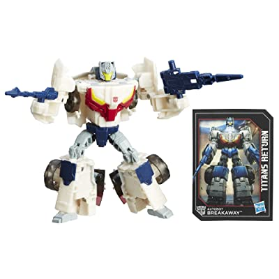 Transformers Generations Deluxe Titans Return Autobots Throttle and Breakaway Action Figure: Toys & Games