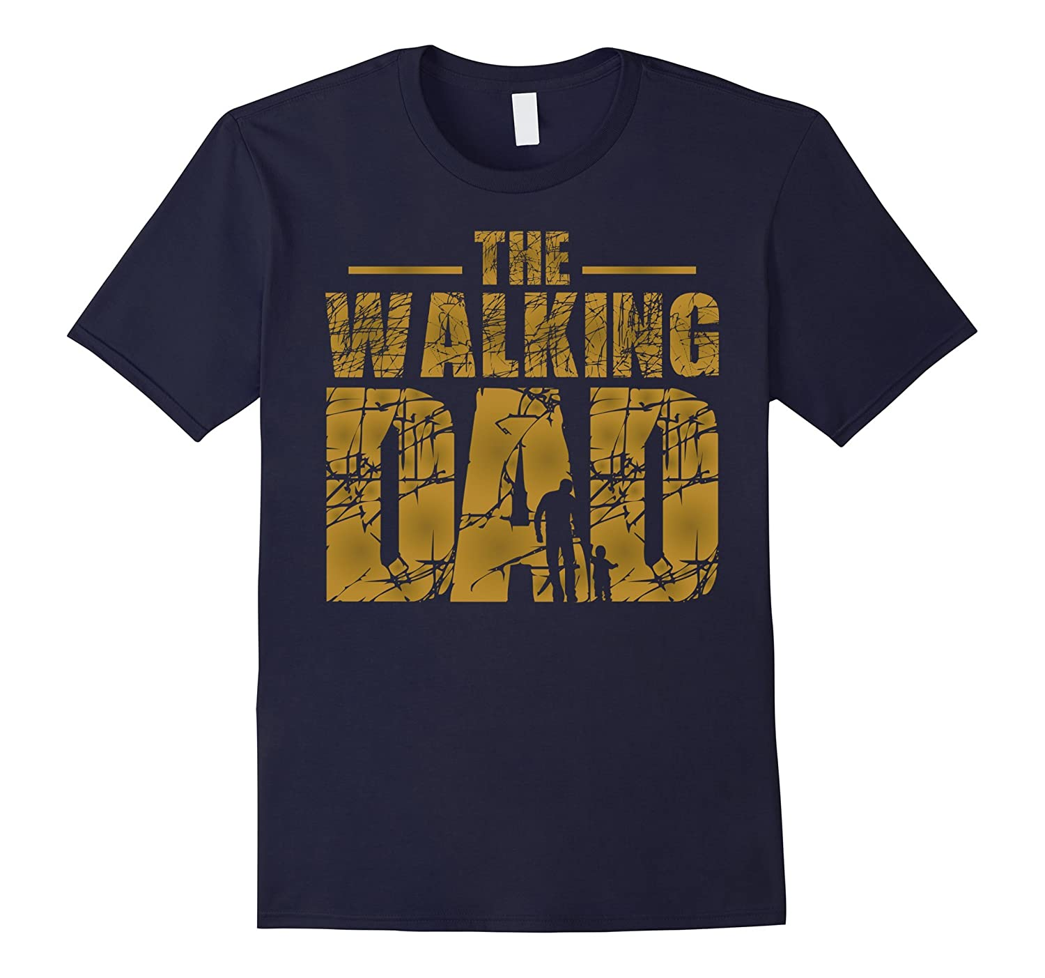 The Walking Dad Zombie Father's Day T-Shirt-TH