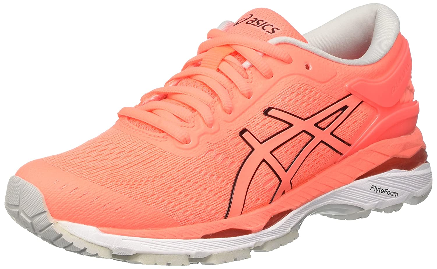 ASICS Women's Gel-Kayano 24 Running Shoe B0719DTHZ2 5.5 B(M) US|Flash Coral/Black/White