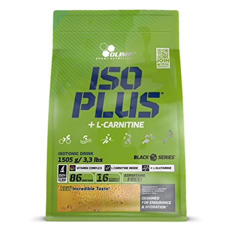 Olimp Sport Nutrition ISO PLUS +L Carnitine - Powder Zip Bag Carbohidratos, Sabor Naranja