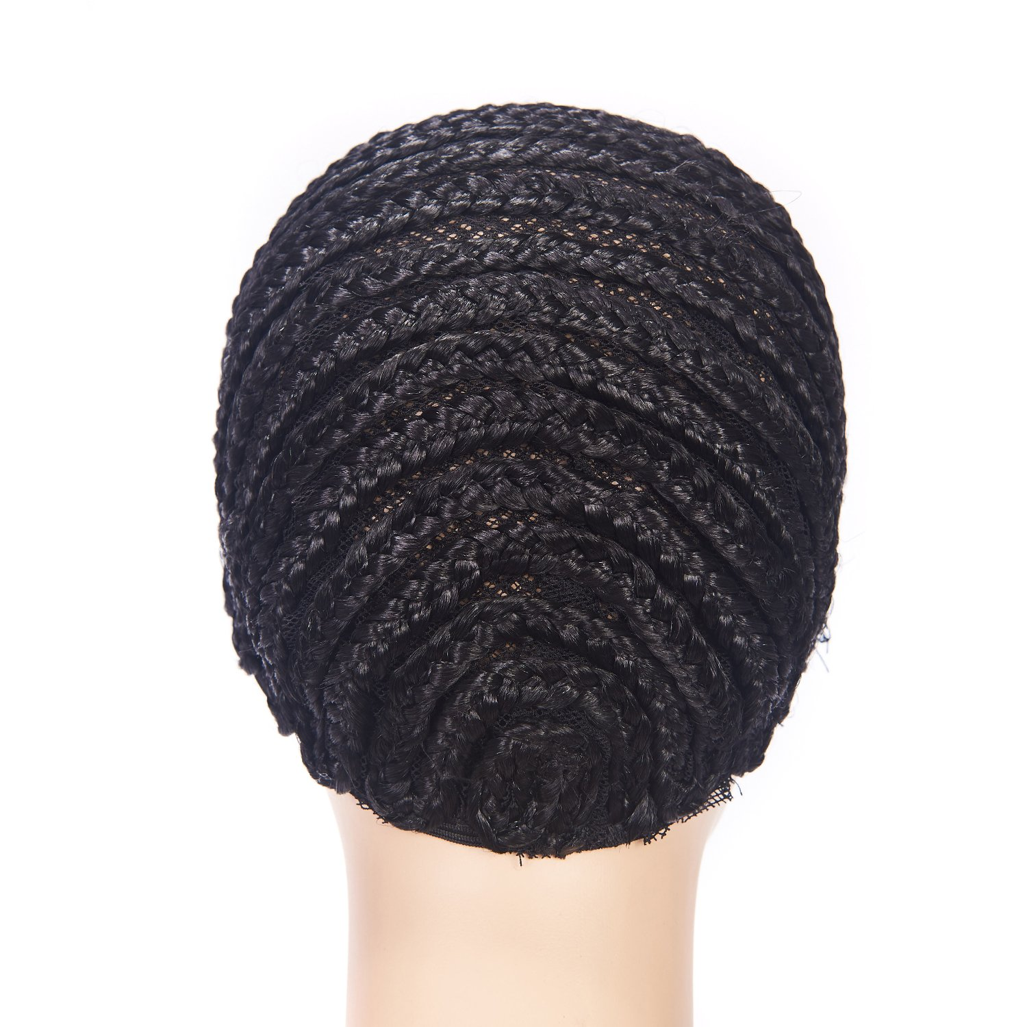 Clip in Braided Wig Caps Crochet Cornrow Cap For Easier Sew In Cap for Making Wigs Adjustable Crochet Wig Cap with 1 Free Hook Needle (L) by XFX Hair (Image #3)