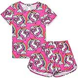 Little Girls Pajamas Set Summer Unicorn Sleepwear