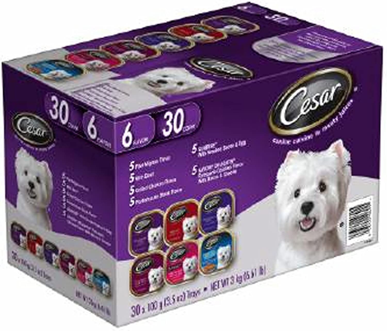 Cesar Canine Cuisine Variety Pack, 30 pk./3.5 oz. (Pack of 2)