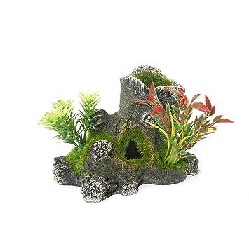 Rosewood - Figura Decorativa para Acuario, diseño de pecera con Plantas: Amazon.es: Productos para mascotas