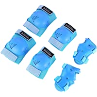Kids/Youth Knee Pad Elbow Pads Guards Protective Gear Set for Rollerblade Roller Skates Cycling BMX Bike Skateboard Inline Skatings Scooter Riding Sports, Wrist Guards Toddler for Multi-sports Outdoor Activities: Rollerblading, Skating, Volleyball, Football