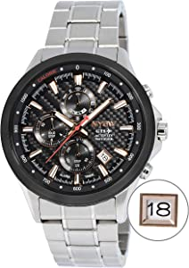 NYSW Luxury Smart Watch Analog Atomic Fitness Activity Tracker Hybrid Black Smartwatch Reloj for Men Hombre Women Perpetual Calendar Smart Phone Link Feature: iPhone/Android TC-NY-MH-0