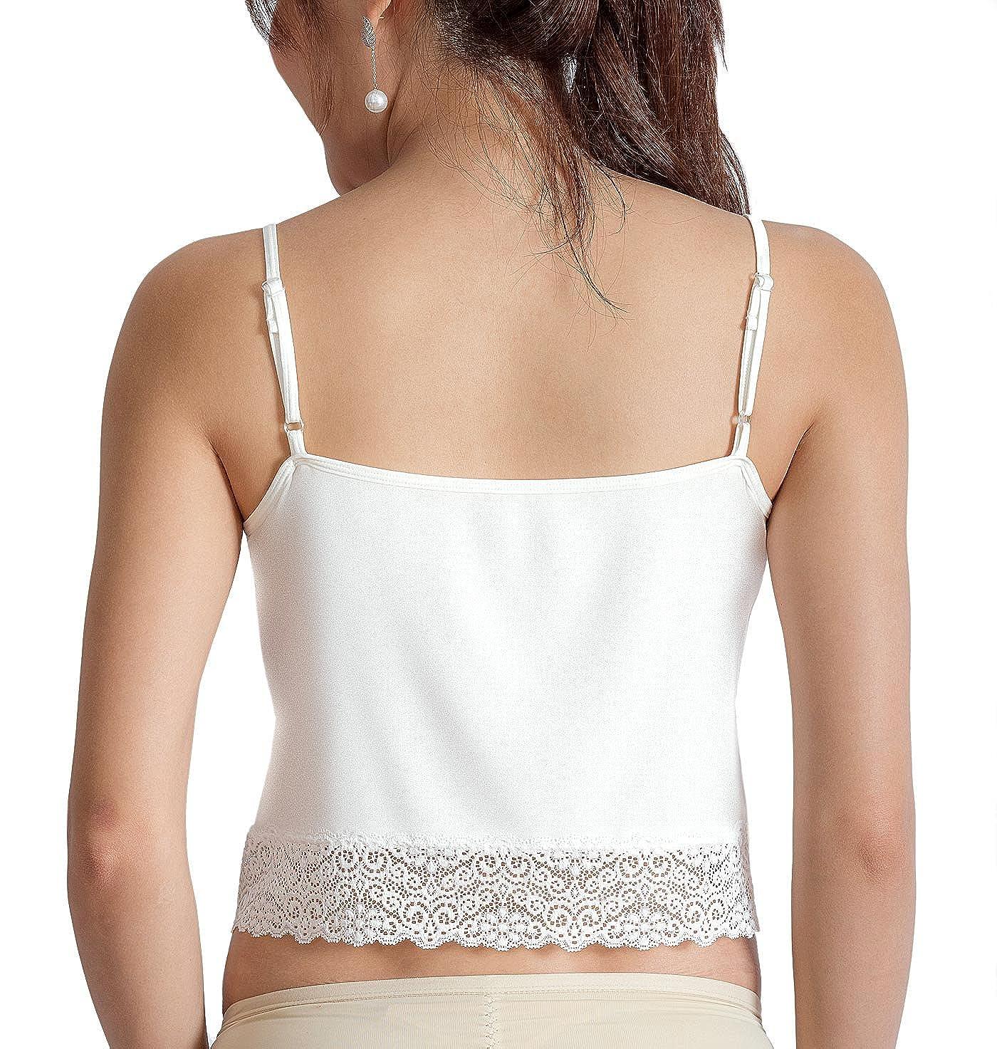 2d2f5f7f779819 ANNY Women s Casual Camisole Crop top Lace Trim Cami-Crop-A641-parent