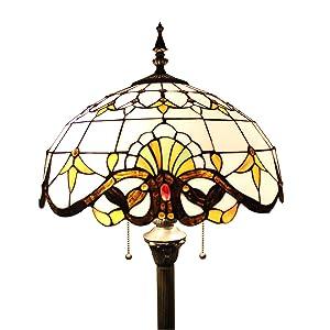 SINCERE@ Lámpara 16 Pulgadas Barroco Europeo Tiffany Lámpara De Piso De La Sala