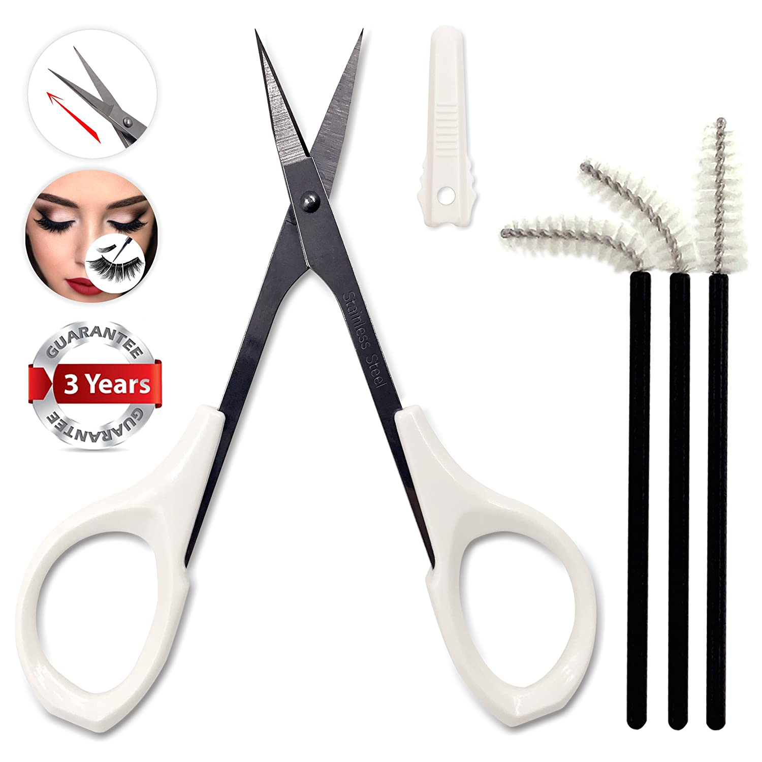 Small Craft Scissors Straight Sharp for Trimmer Precision Shear Cuticle Nail Eyebrow Travel Sewing with Safe Protective Cap by Tidawave