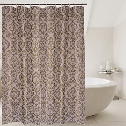 Superbe Livememory Damask Shower Curtain PEVA Shower Curtain Set Plastic  Anti Bacterial Mildew Resistant Waterproof Non