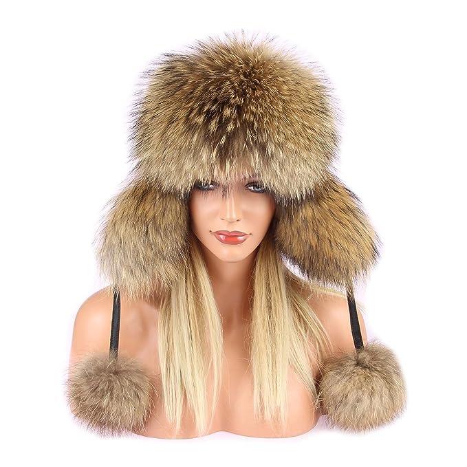 Raccoon hat cappello da sci cappello di pelliccia cappello di pelliccia  pelle FUCHS berretto aviatore cappello 25a3a8da67c2