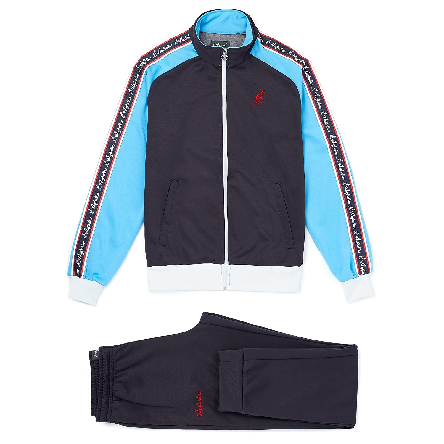 Navy bluee L Australian L'Alpina Tracksuit with Retro Taping
