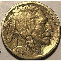1919 D Buffalo (Semi Key Date) Nickel Good