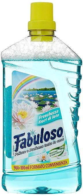 3 opinioni per Fabuloso- Detergente Liquido per Superfici Casa, Freschezza Fior di Loto- 1000