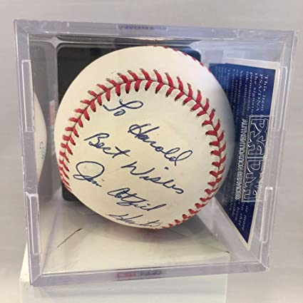 516f99585a2 Autographed Jim Catfish Hunter Baseball - AL NM 8 - PSA DNA Certified -  Autographed