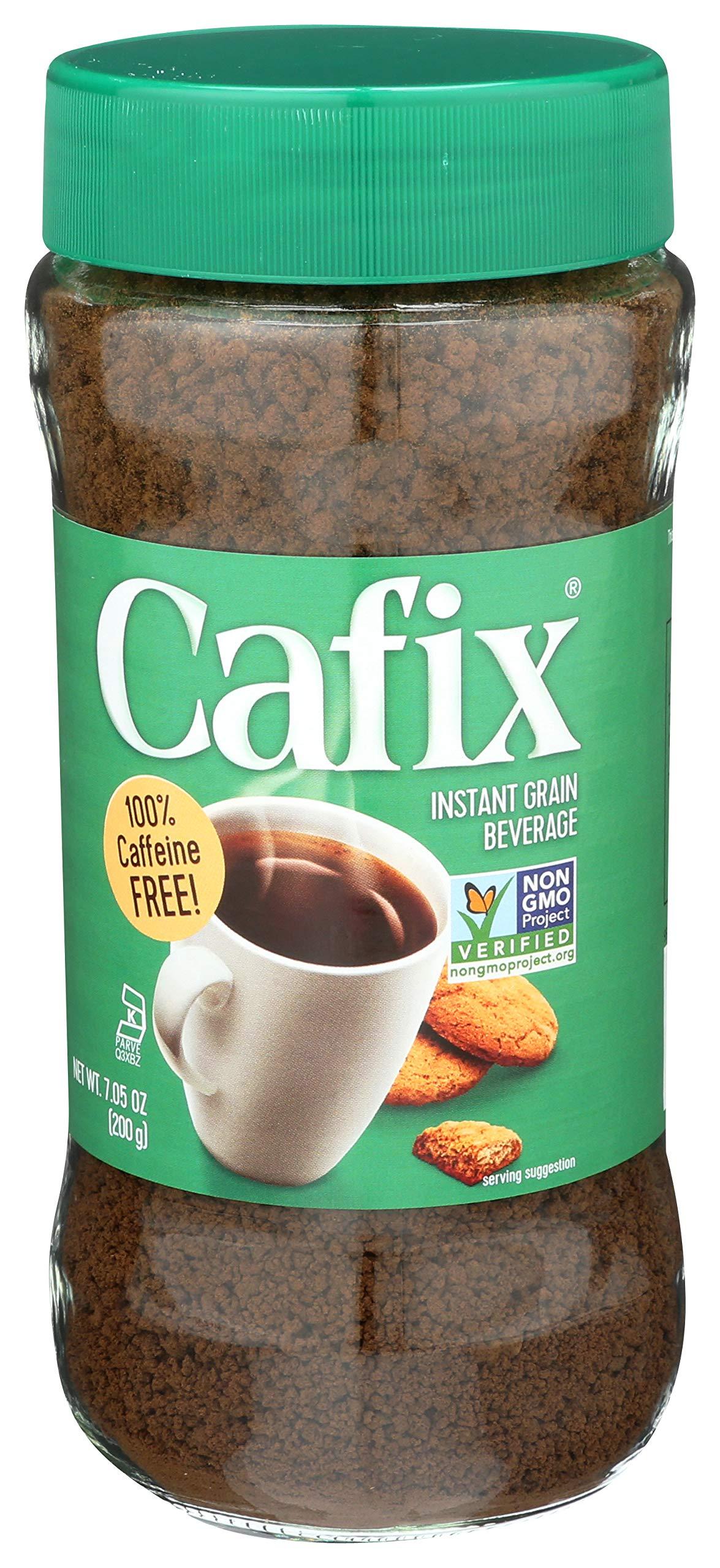 Cafix Coffee Substitute Crystals Jar 7.05 Ounces