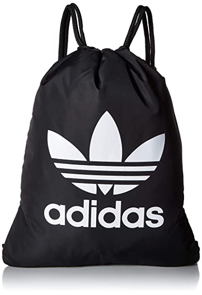 Amazon.com   adidas Originals Trefoil Sackpack, Black White, One ... 63900b2ff1