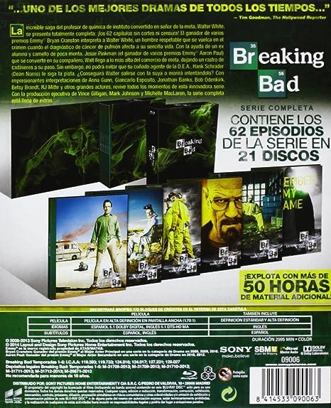 Breaking Bad - Temporadas 1-5 Caja Serie Completa Blu-ray: Amazon.es: Bryan Cranston, Aaron Paul, Anna Gunn, Vince Gilligan, Bryan Cranston, Aaron Paul, Vince Gilligan: Cine y Series TV