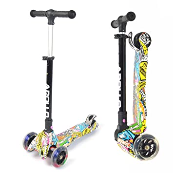 Apollo Scooter - Candy Racer LED - Big Wheel Scooter de lujo para niños a partir