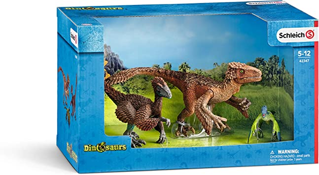 Schleich-42347 Set Figuras Dinosaurios, Multicolor (42347): Amazon ...