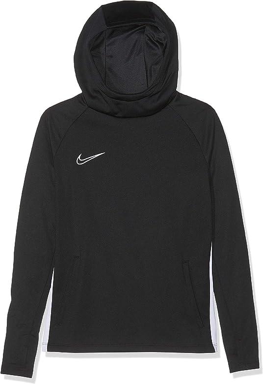 Nike B NK Dry ACDMY Hoodie PO Sudadera, Niños, Black/White/White ...