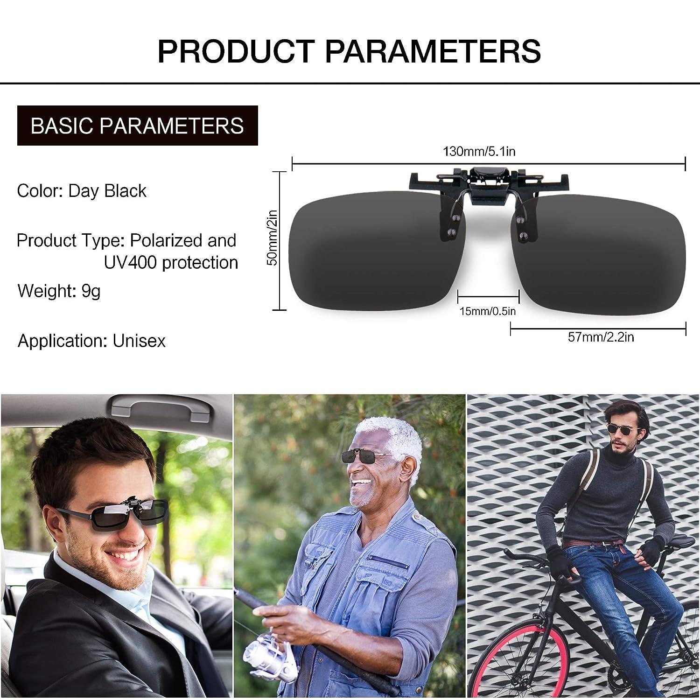 eb1cfe2cdb Clip on Sunglasses Polarized Lens
