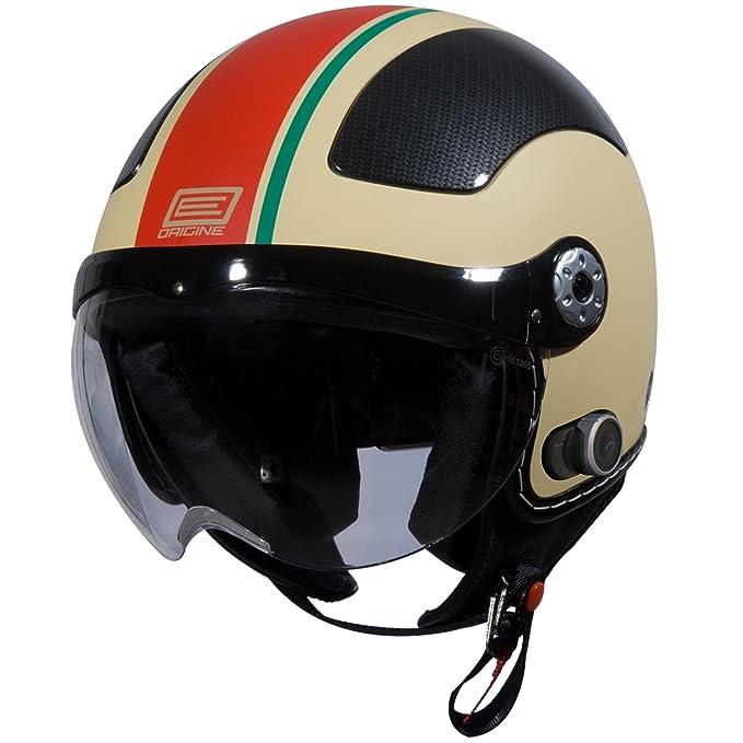 Amazon.com: Origine O528B Pilota 3/4 Helmet with Blinc Bluetooth (Flat Cream, X-Small) (Red Gara): Automotive