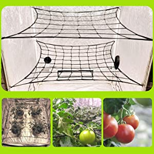 MEGALUXX 2-PK Dual Layer Grow Netting for 4x4 5x5 4x2 Grow Tents (2 Pack) - Grow Net Trellis Netting Grow Tent Net
