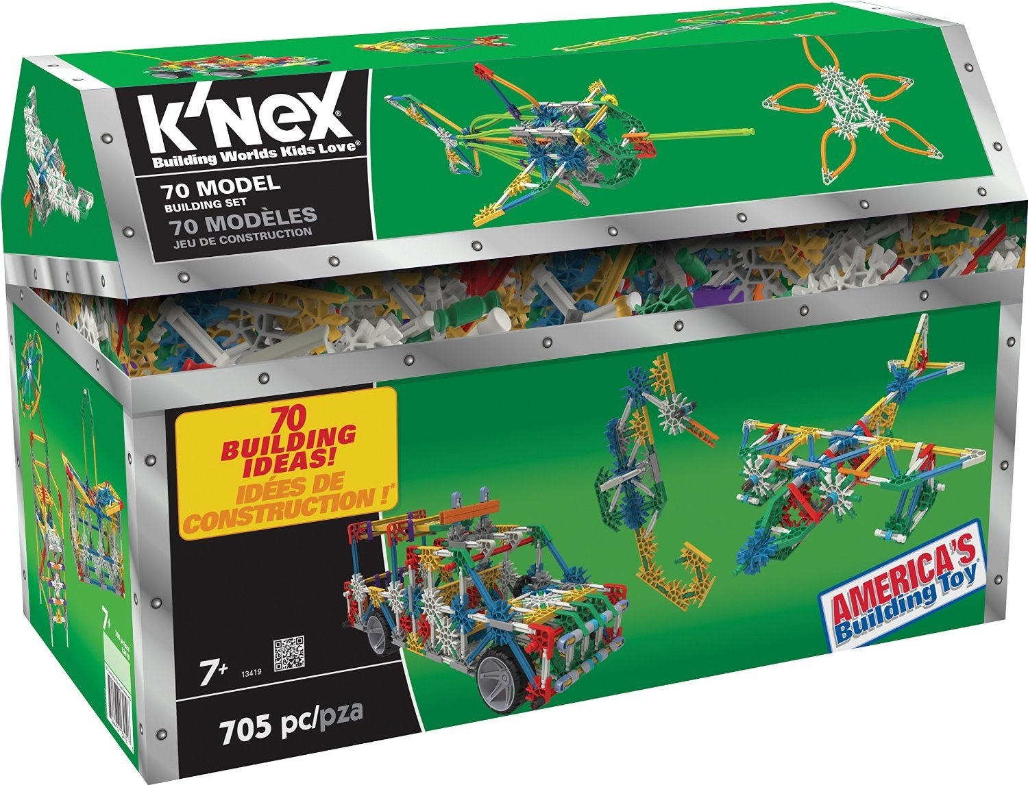 K'NEX 70 70 70 Model Building Set – 705 Pieces – Ages 7+ Engineering Education Toy 112d96