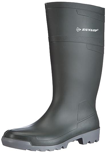 Dunlop W486711 Hobby Knie GROEN 43, Unisex-Erwachsene Langschaft Gummistiefel, Grün (Grün(Groen) 08), 43 EU