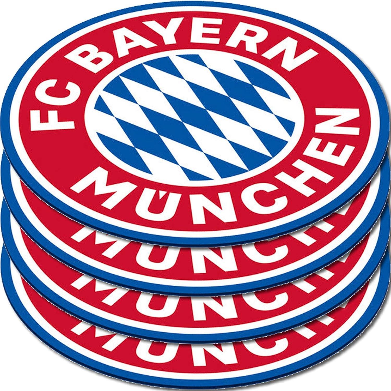 emailliert+geprägt- 10x10 mm KLEINES WAPPEN Fußball-Nadel FC BAYERN MÜNCHEN