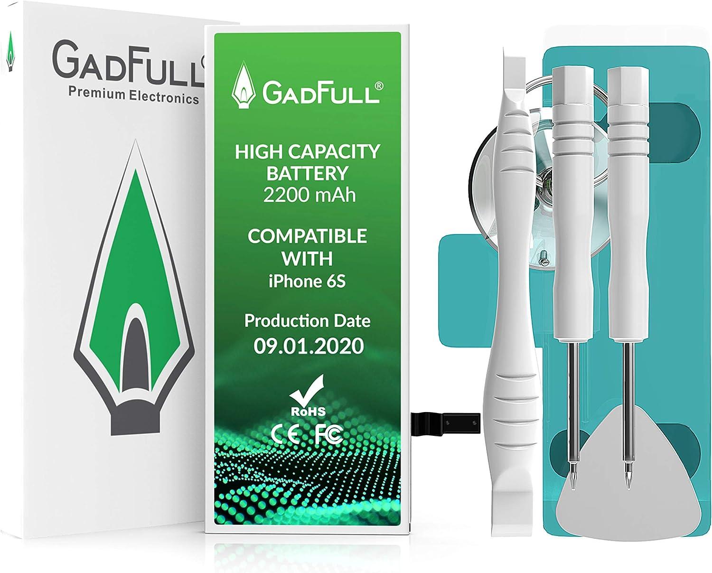 GadFull Batería de Alta Capacidad de reemplazo para iPhone 6S | 2019 Fecha de producción | Incluye Manual de reparación y Kit Profesional de Juego de Herramientas