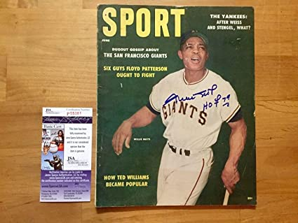 365362bc8 Image Unavailable. Image not available for. Color  Willie Mays Signed 1958  Sport Magazine Inscribed HOF 79 ...