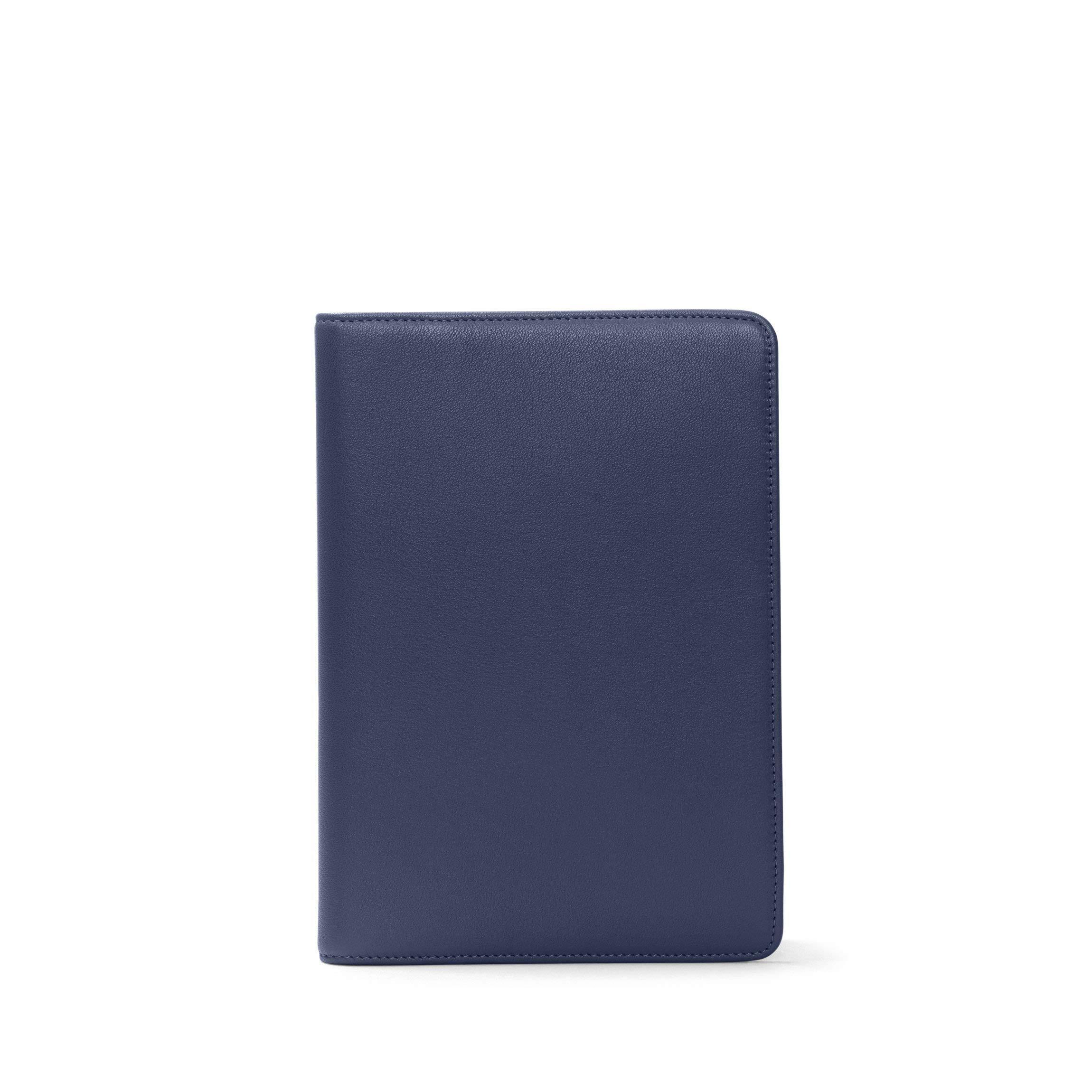 Spiral Medium Journal - Full Grain Leather Leather - Navy (blue)